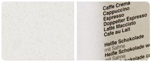 Grau gesprenkeltes Feinstpaqpier mit einem Umweltzertifikat