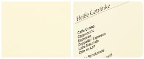 Glattes Creme farbiges getöntes Design Papier in edler Hapti